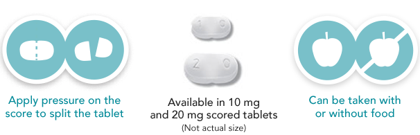 ONFI® (clobazam) CIV tablets and dosing instructions icons. See Indication and full Prescribing Information, including Boxed Warning for risks from concomitant use with opioids.