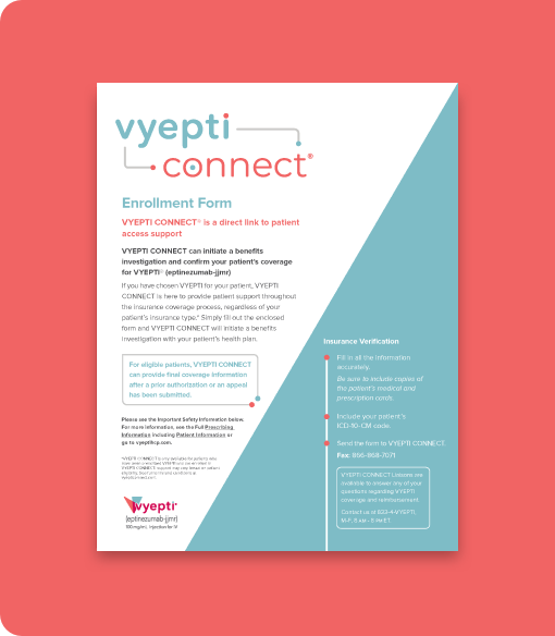 VYEPTI CONNECT Enrollment Form